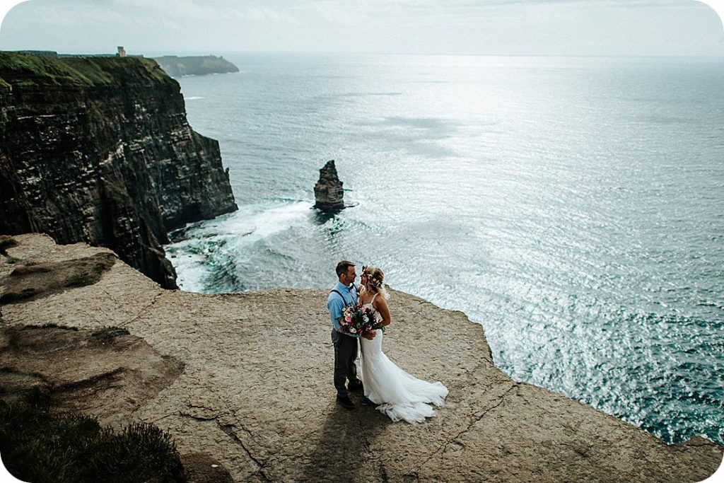 NewtownCastle co. Clare, wedding photo session Cliffs of Moher.